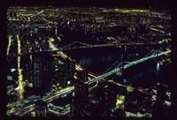 East River NYC Bridges from WTC Fine Art Print