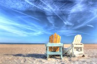 Two Chairs On The Beach Fine Art Print