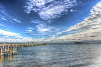 Water Sky One And Half Piers Fine Art Print