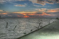 Key West Sunrise Gulls and Pier Fine Art Print