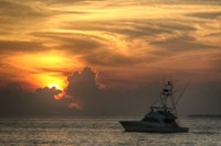 Key West Sport Fisher Sunset Fine Art Print