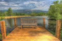Mountain Dock and Bench I Fine Art Print