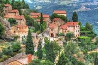 Tuscan Hilltop Town Fine Art Print