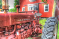 Tractor and Barn Fine Art Print