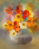 Bouquet Nasturtiums Fine Art Print
