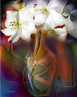 White Flowers Fine Art Print