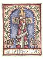Faith Hope Love Cross Nativity Fine Art Print