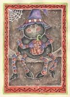 Spider Holding Pumpkin Fine Art Print