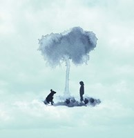 A Boy And His Dog Fine Art Print