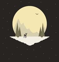 Wintertime Deer Fine Art Print