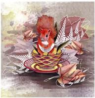 Autumn Squirrel Fine Art Print