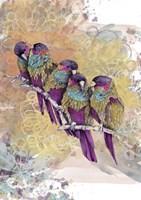 Purple Parrots Fine Art Print