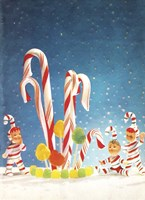 Holiday Candy Canes Fine Art Print
