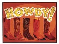 Howdy Boots Fine Art Print