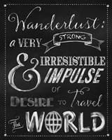Wanderlust Chalkboard Travel Series Fine Art Print