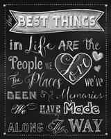 Best Things Chalkboard Fine Art Print