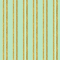 Golden Mint Stripes 2 Fine Art Print