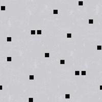 Linen Gray Black Squares Confetti Fine Art Print