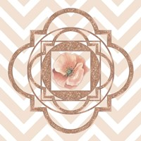 Persian Rose Gold Quatrefoil Fine Art Print
