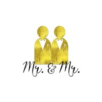 Wedding Couple Mr Mr Fine Art Print