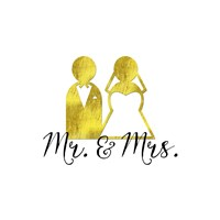Wedding Couple Mr Mrs Fine Art Print