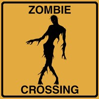 Zombie Crossing Fine Art Print