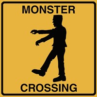 Monster Crossing Framed Print