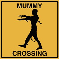 Mummy Crossing Framed Print