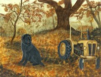 Autumn Labrador Fine Art Print
