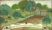 Bless Our Country Home Fine Art Print
