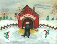 Christmas Labrador Fine Art Print
