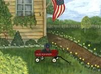 My Lil Red Wagon Fine Art Print