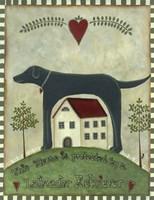 Primitive Labrador 2 Fine Art Print