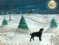 Winter Labrador Fine Art Print
