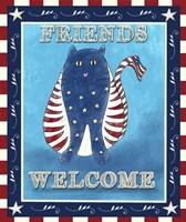 Americana Welcome Kitty Fine Art Print