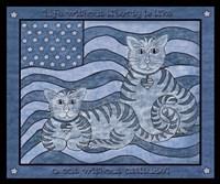 Patriotic Cats Fine Art Print