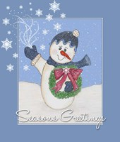 Snowman Greeting Fine Art Print