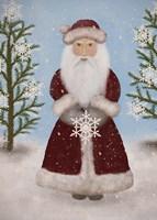 Snowflake Santa Fine Art Print