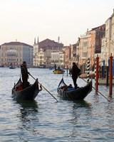 Venetian Gondoliers Fine Art Print