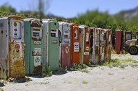 Vintage Gas Pumps Tilt Fine Art Print
