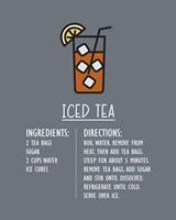 Iced Tea Recipe Gray Background Fine Art Print