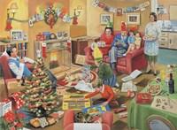 A 50's Family Christmas Fine Art Print