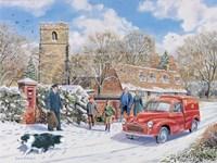 Christmas Post Fine Art Print