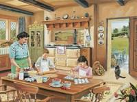 A Cottage Kitchen Fine Art Print