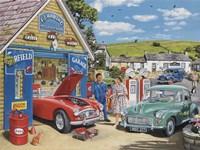 The Village Garage Fine Art Print