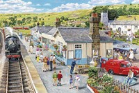 The Village Station Fine Art Print