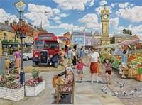 Arriving In Market Square Fine Art Print