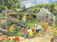 Gardening With Grandad Fine Art Print