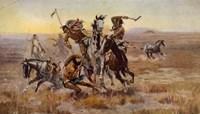 Charles Marion Russell - Souix Blackfeet Fine Art Print