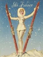 Ski France Glam Fine Art Print